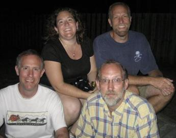 Hylbom siblings - clockwise from top left: Amy, Matt, Paul, Tor; Myrtle Beach, South Carolina, July 2007