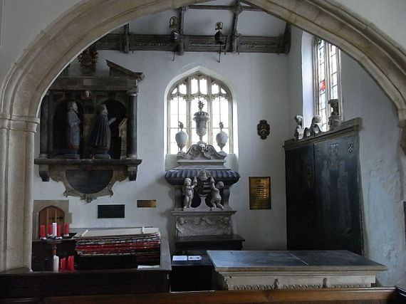 View northwards from the chancel into the Wyndham Chapel