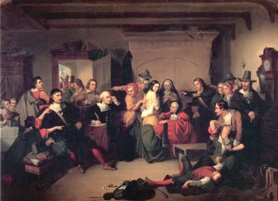 """""""Examination of a Witch"""" by Thompkins H. Matteson, 1853"""