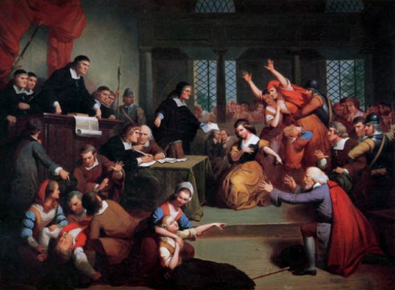 """""""The Trial of George Jacobs"""" by Thompkins H. Matteson, 1855"""
