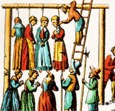 """Witches"" at Salem were hung. No witches were burned in New England (that was what they did in Europe)."