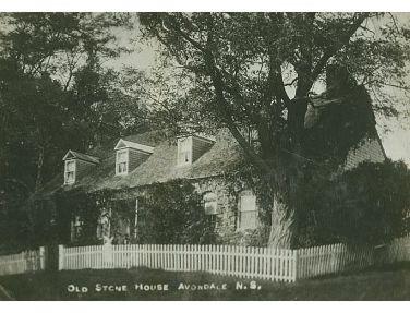 "The Old Stone House or Henley Farm, on Avondale Road, Lower Newport [Landing], N.S."" (photo taken 1963, Nova Scotia Archives & Records Management, Neg. #N-391)"