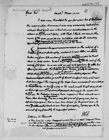 Letter from Thomas Jefferson to Littleton Waller Tazewell, 1825 (Library of Congress)