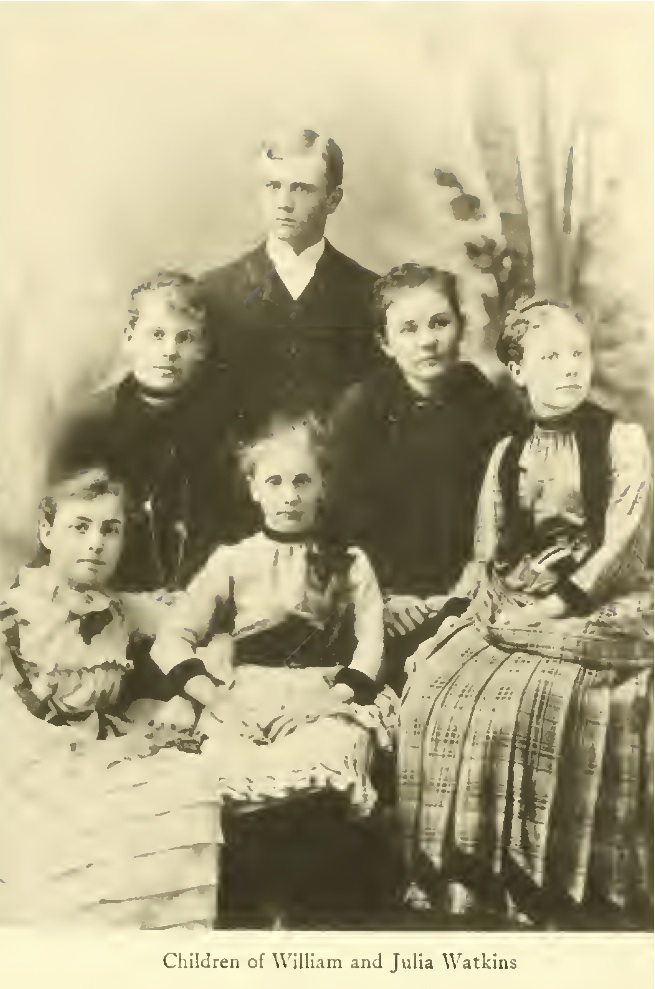 The children of William and Julia Watkins: Rosamund, Helen, Paul, Diana, Agnes and   Josephine