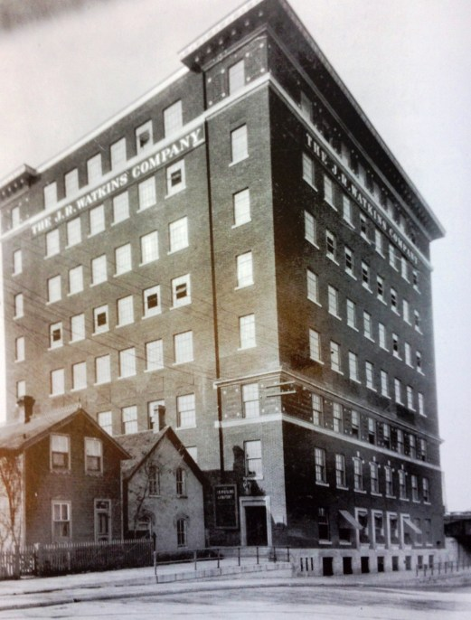 In 1913, the J.R. Watkins Company became an international company when it opened this new manufacturing plant in Winnipeg, Canada. Within a few years, other Canadian branches were opened in Montreal, Quebec City & Vancouver.