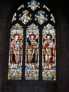 Stained glass windows - All Saints Church in Westbury Leigh (photo credit: Danette Percifield Cogswell, May 2013)