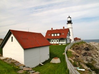 Another view of the lighthouse and Pemaquid Point, Maine (photo credit: Steve Anderson - May 2013)