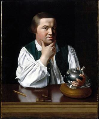 Paul Revere (1734-1818) - portrait by John Singleton Copley