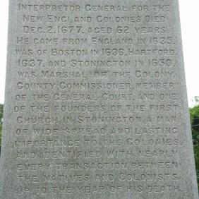 Thomas Stanton - monument inscription