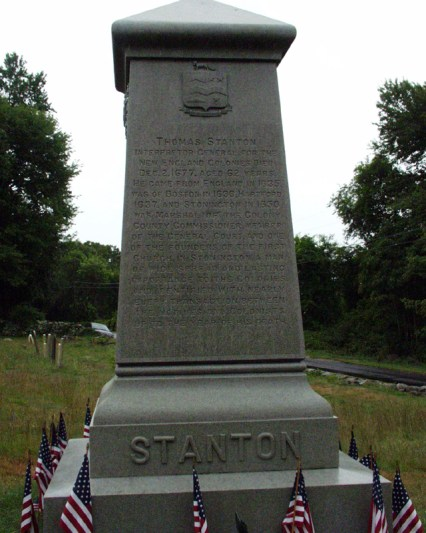 Thomas Stanton – Founder's Monument located in Wequetetock Cemetery, Stonington, Connecticut