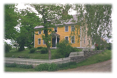 The Walter Palmer House, Stonington, Connecticut - built by Thomas Minor for his father-in-law (1652); photo credit: Walter Palmer Society