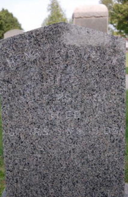 Henry Fayette Hamlin (1834-1901) - grave marker at Oakland Cemetery, Manchester, Iowa