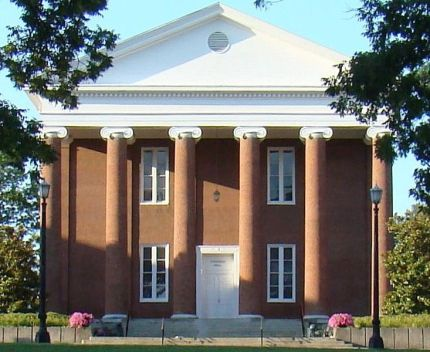 Giddings Hall, originally called Recitation Hall, is a Greek Revival building located on the campus of Georgetown College in Scott County, Kentucky. Georgetown was the first Baptist college founded west of the Allegheny Mountains, and Giddings Hall was the first permanent structure constructed after the college was formed. The building is named after Rockwood Giddings, the third president of the school. The property was added to the U.S. National Register of Historic Places on 6 Feb 1973.