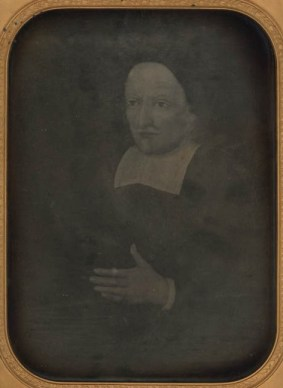 Francis Higginson (1588-1630) - a daguerreotype attributed to Southworth & Hawes, circa 1854-1860, depicting a painted portrait (Massachusetts Historical Society)