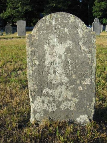 Mercy (Hallet) Gibbs (1689-1773), Agawam Cenmetery, Wareham, Massachusetts (photo credit: johnmorrison77)