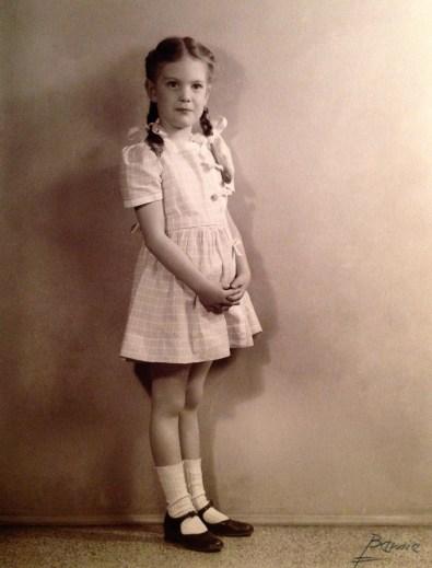 Penny Walholm, age 6 (April 1946)