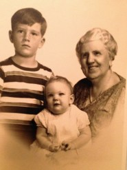 "Rusty, Penny & ""Grammie"" (Florence Henderson Watkins, 1869-1956)"