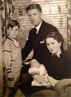 Rusty, Roy, Penny & Florence Walholm (7 Nov 1939, Pasadena, California)
