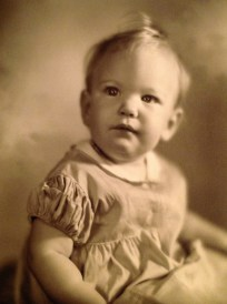 Penelope Jane Walholm, 1st birthday (26 Sep 1940)