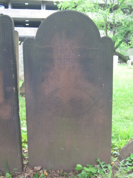 Constant (Littell) Spinning (1706-1757) is buried in the First Presbyterian Churchyard (Elizabeth, New Jersey).