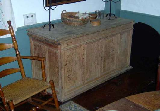 The Dennis Historical Society has the large oak chest owned by Thomas and Mary on display at the Josiah Dennis Manse.