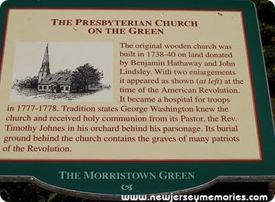Historical Marker - Morristown, New Jersey