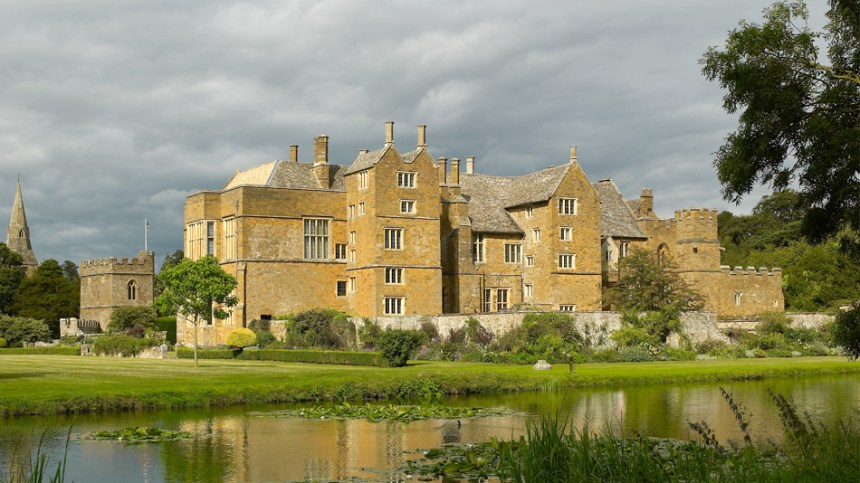 Broughton Castle is a moated and fortified manor house near Banbury in North Oxfordshire. It was a center of opposition to Charles I and was besieged and damaged after the Battle of Edgehill in 1642.