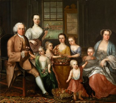 Portrait of John Glassford and family, by Archibald McLauchlan (Source: Glasgow Museums)
