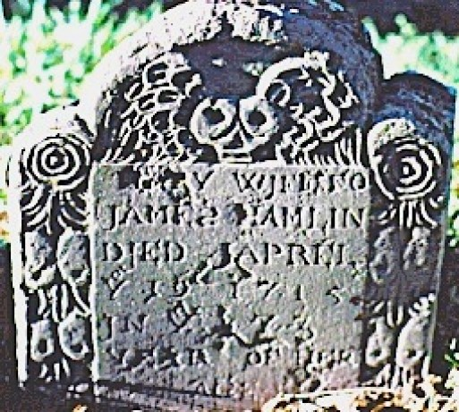 Mary (Dunham) Hamlin (1642-1715); Lothrop Hill Cemetery, Barnstable County, Massachusetts