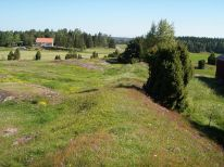 Götavirke (Geatish Dyke) are the remains of two parallel defensive walls going from north to south between the villages of Västra Husby (58°29′N 16°10′E / 58.483°N 16.167°E / 58.483; 16.167) and Hylinge (58°28′N 16°10′E / 58.467°N 16.167°E / 58.467; 16.167) in Östergötland, Sweden. The walls cover the distance between the lakes Asplången (58°30′N 16°08′E / 58.5°N 16.133°E / 58.5; 16.133) and Lillsjön (58°28′N 16°10′E / 58.467°N 16.167°E / 58.467; 16.167). North of Asplången there are remains of several ancient hill forts that may have been part of the defensive line. South of Lake Lillsjön, the terrain is so hard to pass that it hardly needed any defenses. (photo credit: Västgöten)