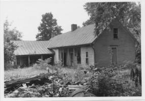 Daniel Trabue House: This view of the Trabue House shows numerous additions that have been made to the house since its construction in the 1820s. Courtesy of the National Park Service.