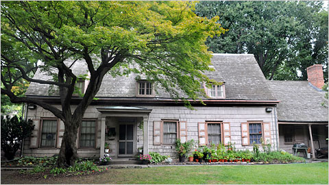 The John Bowne House is an historic home located in Flushing, Queens, New York. Built around 1661, it was the location of a Quaker meeting in 1662 that resulted in the arrest of its owner, John Bowne. Since 1947, Bowne House has been a museum.