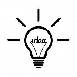 Lightbulb idea symbol icon