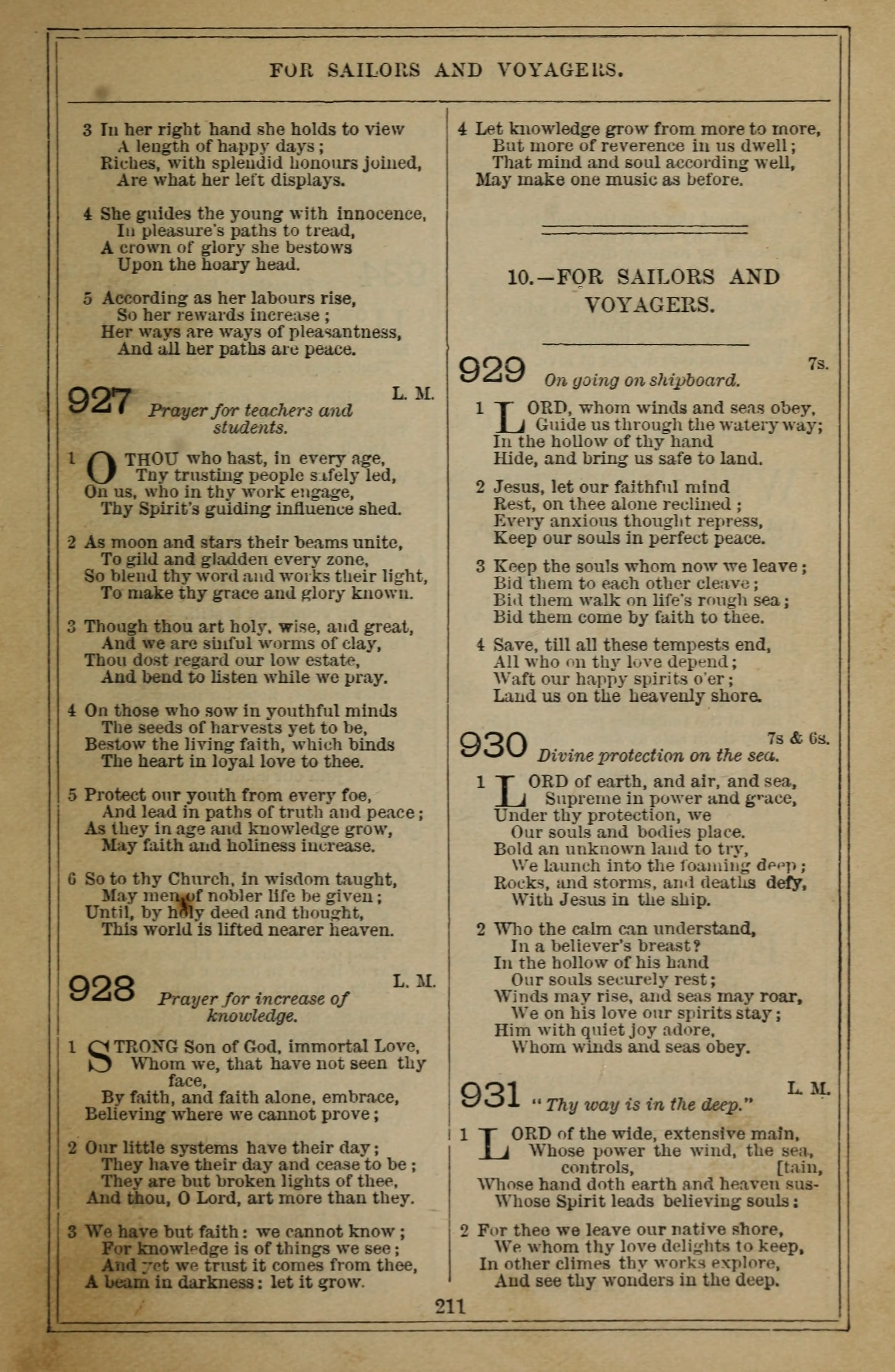 Methodist Hymn-Book 777. Stand up! stand up for Jesus