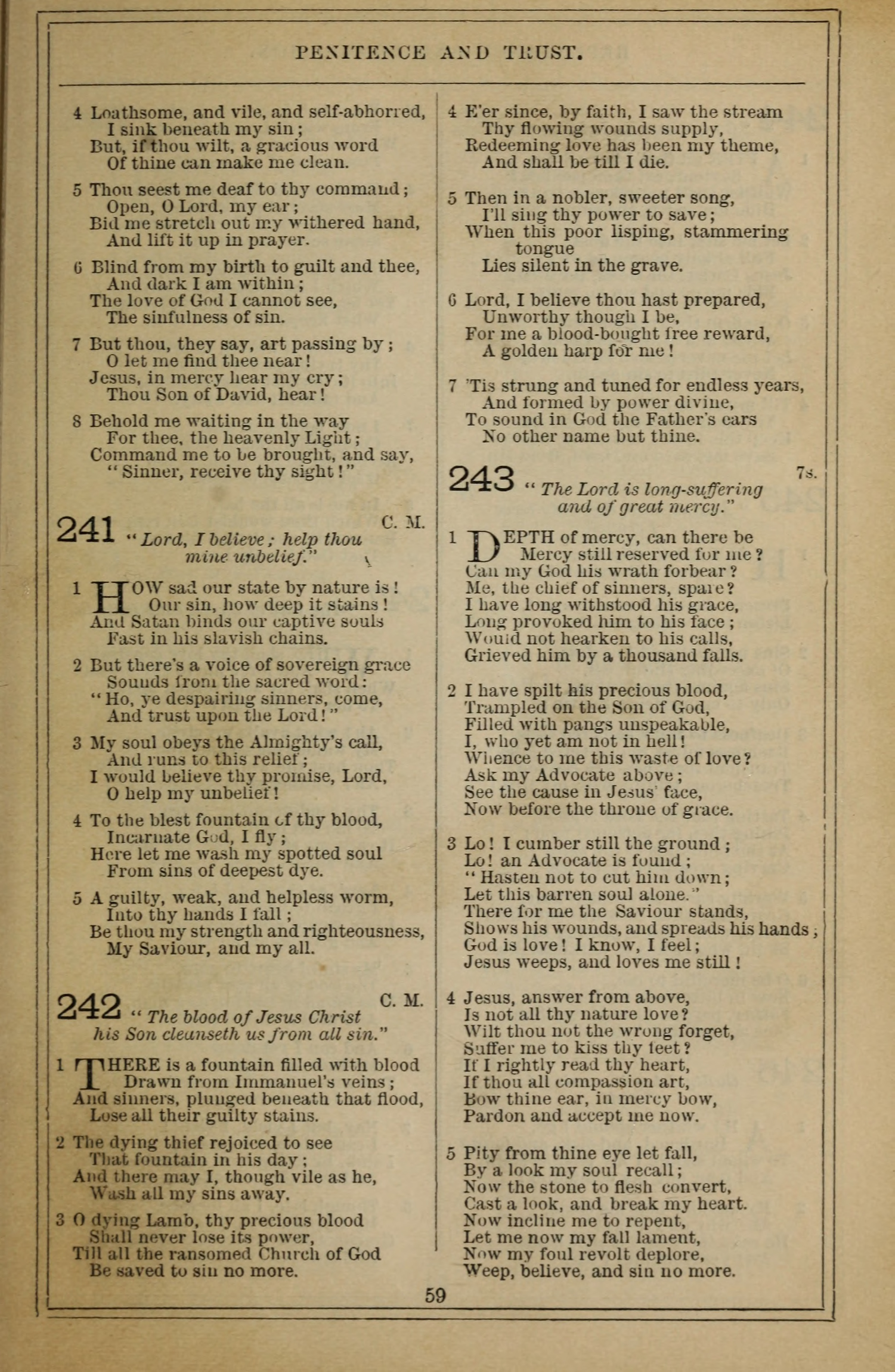 Methodist Hymn-Book 209. Come, O ye sinners, to your Lord