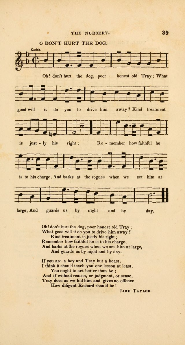 O don't hurt the dog. poor honest old Tray | Hymnary.org