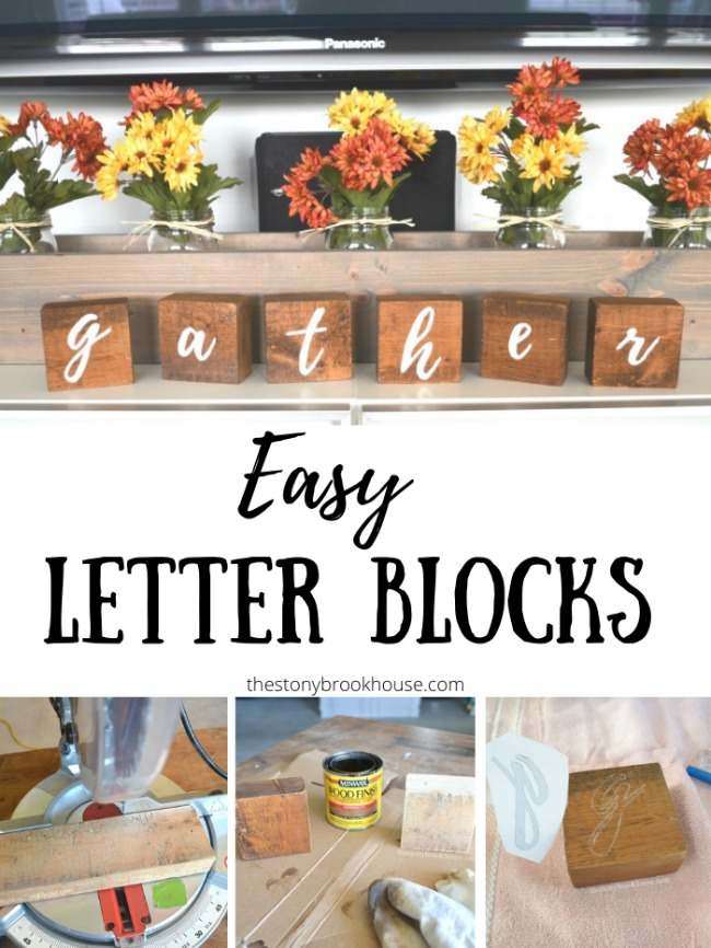 Gather Letter Blocks - The Stonybrook House