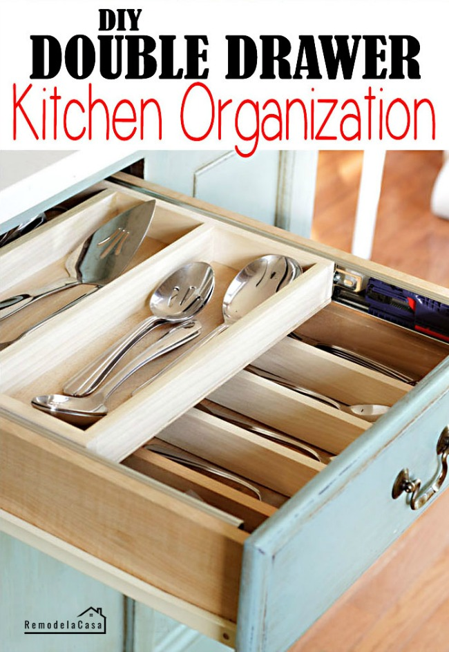 RemodelaCasa - Double Drawer Kitchen Organization