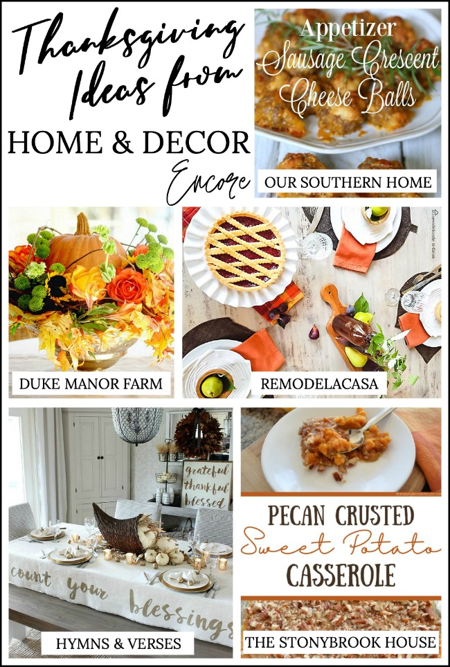 Thanksgiving Ideas Home and Decor Encore