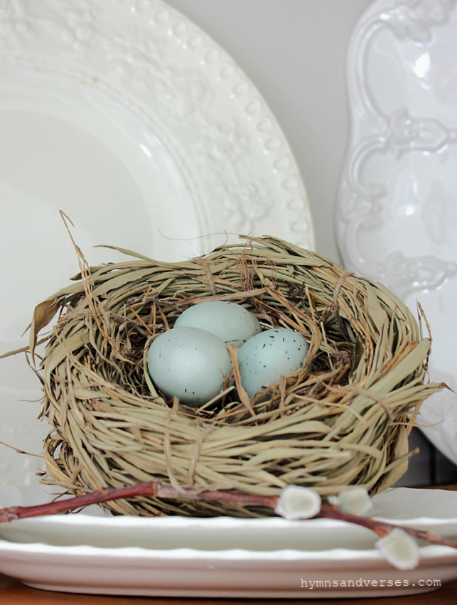 Bird Nest Decor for Spring - Hymns and Verses