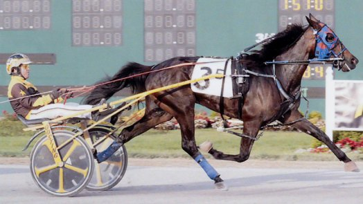 Shadow Copy breaking her maiden in 1:57.2 in a race at Hoosier Park on June 6, 2018