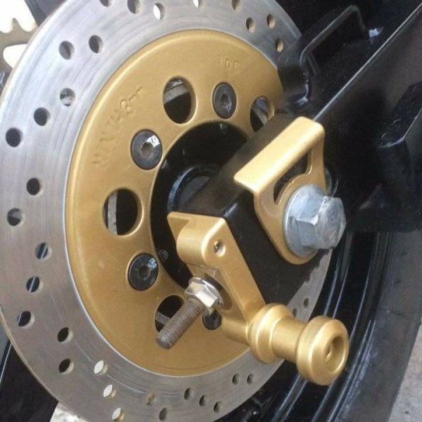 Custom Hyosung Race Stand Bobbins Rear Adjuster Spools SwingArm UK Hyosung Parts GT125 GT250 GV 125 250