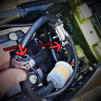 How to change Fuel Lines + Filter on Hyosung GT125R GT250R Carb Hose Diagram  ◼️ 🏁HyoRiders.CLUB