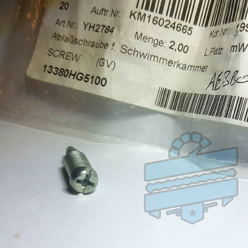Carburettor Float Bowl Drain Screw Bolt :: Hyosung GT125R GV250 GT250R GV125 GT125