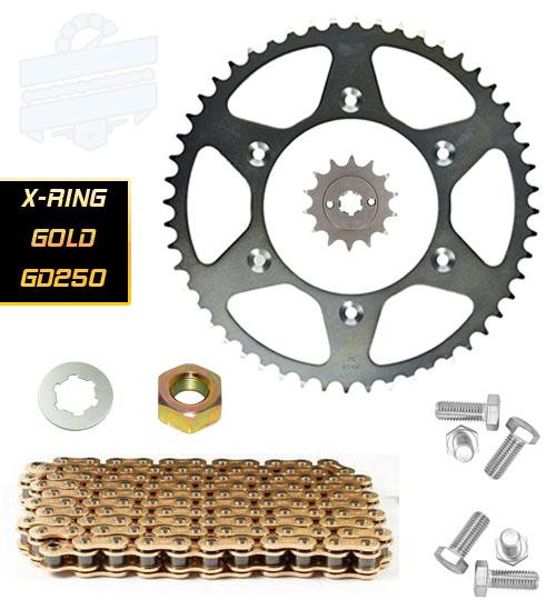 Premium Chain & Sprocket Kit Hyosung GD250R & N (X-Ring) | HyoRiders