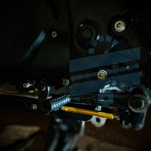 Anodized Short Gear Shift Bar {Shifter Linkage Rod} :: GT125 250 Comet Hyosung