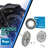 Premium Jap Front+Rear Wheel & Sprocket Bearing Kit - Hyosung GV125S Injected EFi