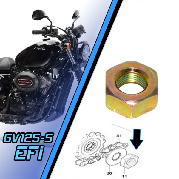 Front Engine Sprocket Nut - Hyosung GV125S Injected Bobber | UK Parts