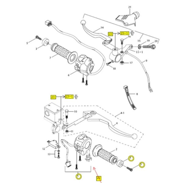 Aftermarket Clutch Lever Switch (Safety Cut Out) - Hyosung GT & GTR Models Only