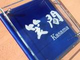 オリジナルガラスと陶器表札GK7 正方形